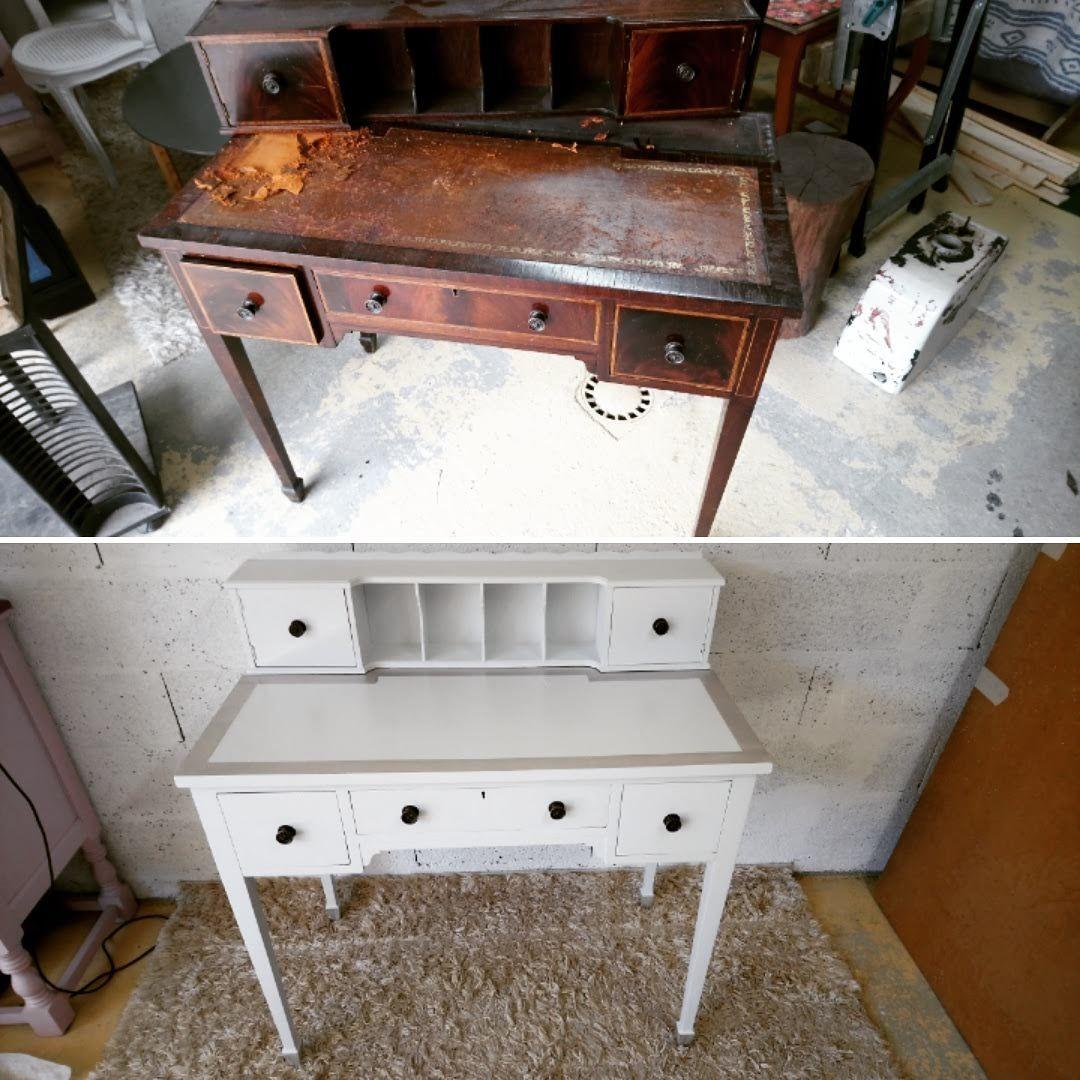 Relooking D Un Vieux Bureau Use Avantapres Bureaurelooke Meublerelooke Relooker Meuble Relooking Meuble Mobilier De Salon