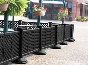 Good Black Portable Decorative Patio Fence