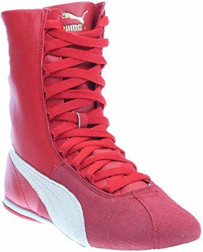 3b2b08c3adc Puma Eskiva Hi Remaster Women US 7 Red Sneakers PUMA