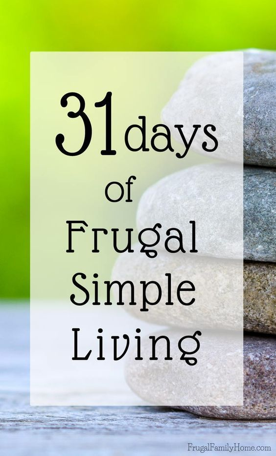 Want to simplify your life? I'm starting a new series this month on frugal simple living. I hope you can join me and follow along.