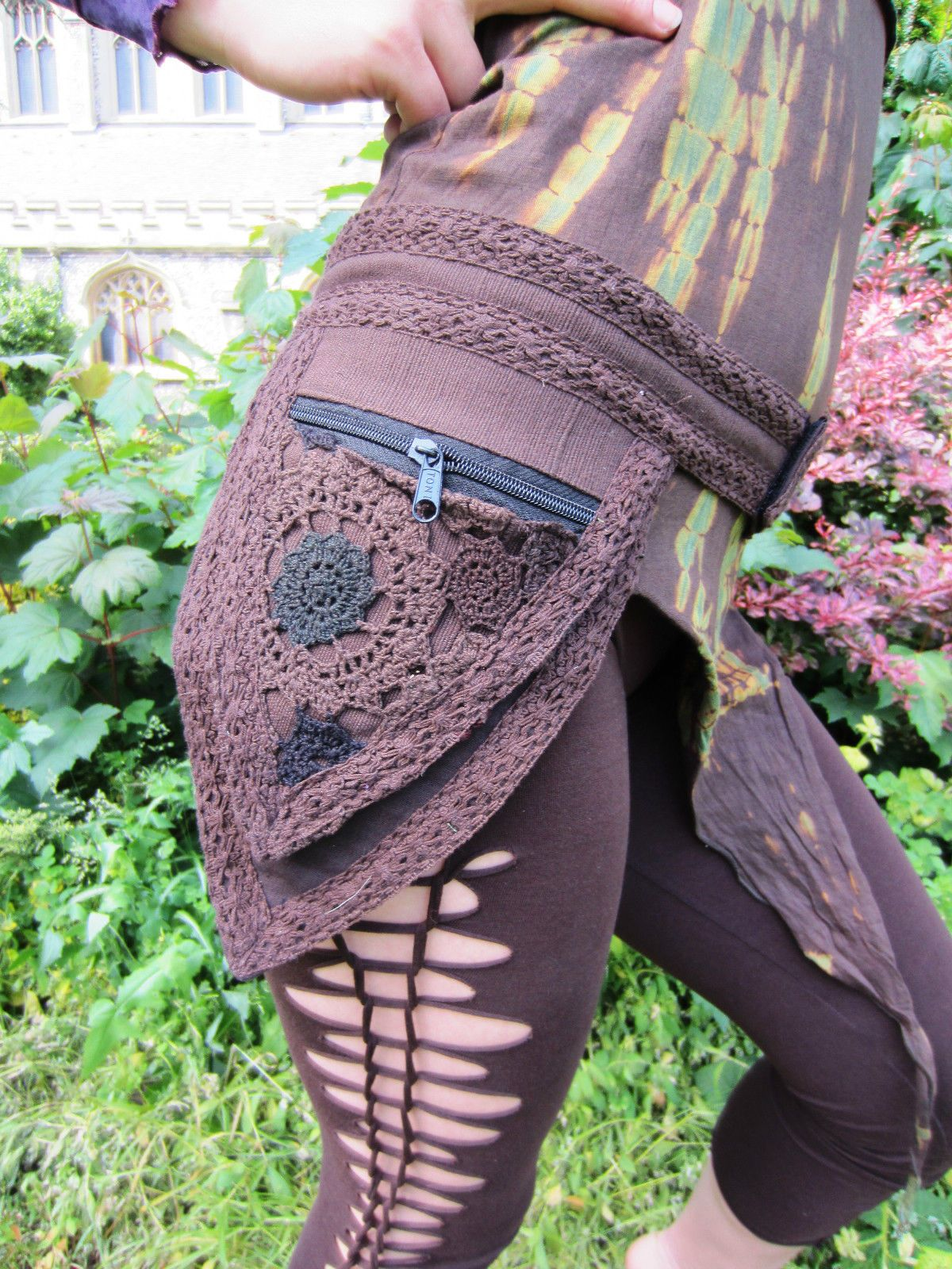 1c6537dce6a9 Pocket Belt Fanny Pack Bum Bag Vegan Crochet Hippy Festival Psytrance Wear