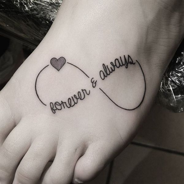image result for forever and always infinity tattoo tatoo pinterest infinity tattoos. Black Bedroom Furniture Sets. Home Design Ideas