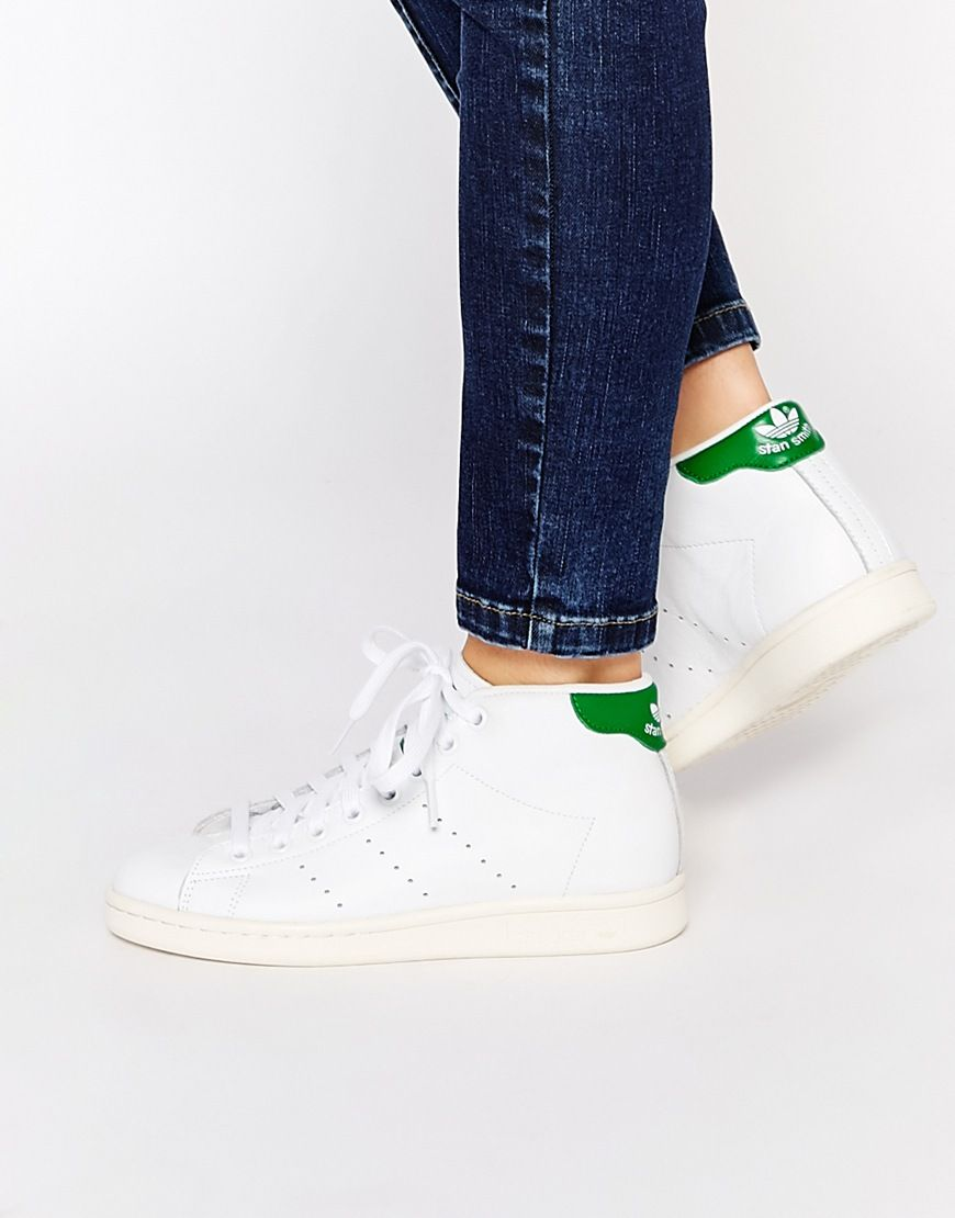 adidas Originals Stan Smith Sneakers, Stripes & White Jeans