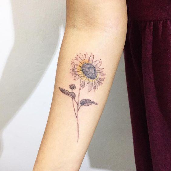 Pin By Bailey Williams On Tattoo Inner Arm Tattoos Spine Tattoos Sunflower Tattoo Design
