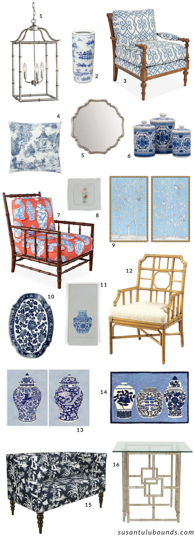 Blue & White Chinoiserie Obsession - Susan Tulu Bounds