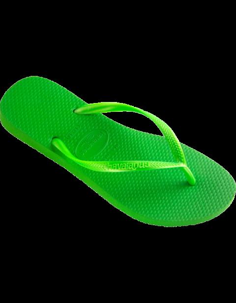 2c09287bb3c93a Walk on soft and comfortable footwear! Havaianas Slim Neon Green Flip Flop   flopstore.