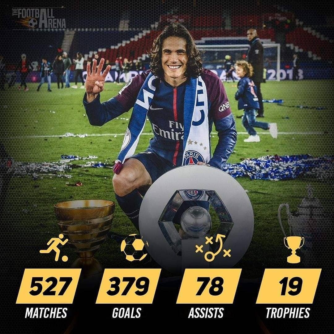 Happy Birthday Edinson Cavani 527 Matches 379 Goals 78 Assists 19 Trophies Paris Saint Germain Paris Saint Germain Paris Saint Saint Germain