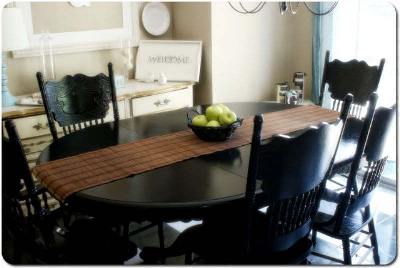 Dining Room Table Dining Table Black Painted Dining Table