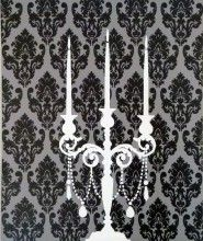 Candelabra...i really wanted a chandelier but couldn't convince the husband...this could be a way to get the same idea!