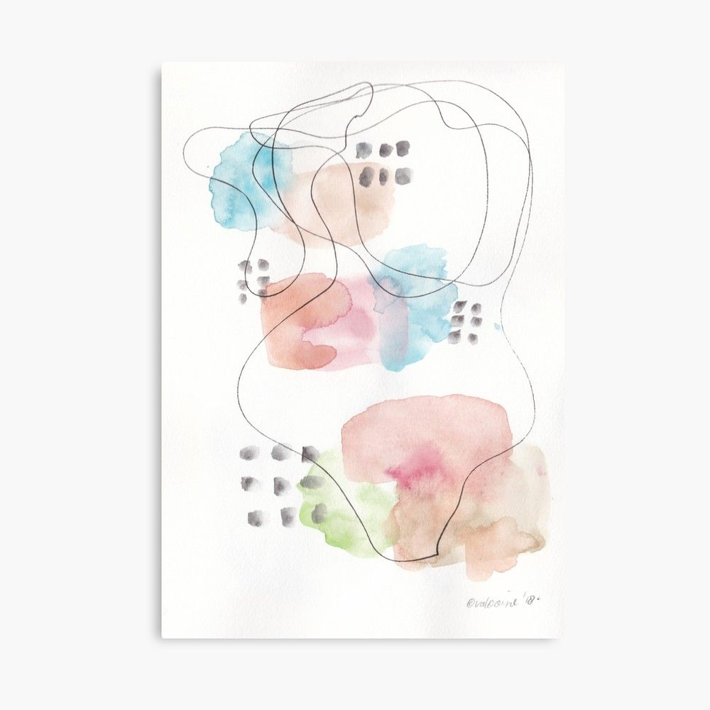 180805 Subtle Confidence 11 Watercolour Abstract Art Prints