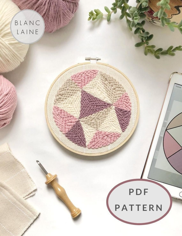 Punch Needle Geometric Pattern