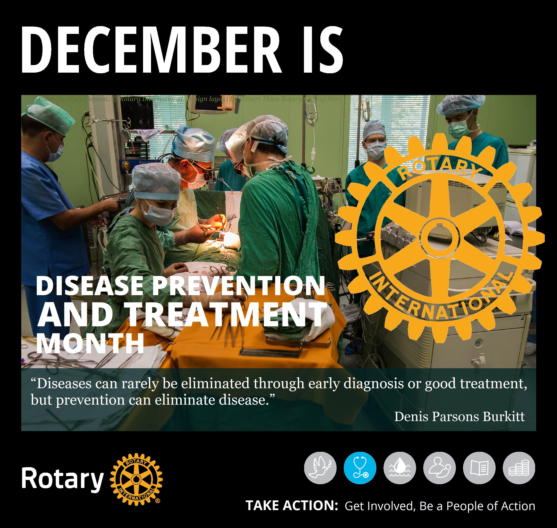 Rotary Mini Poster RY1819 December Disease Prevention