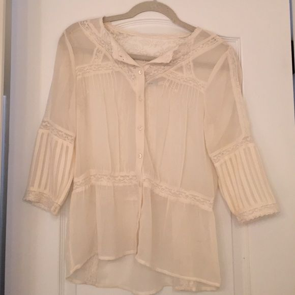Urban Outfitters Lace Blouse sheer, dainty lace blouse. worn once. Tops Blouses