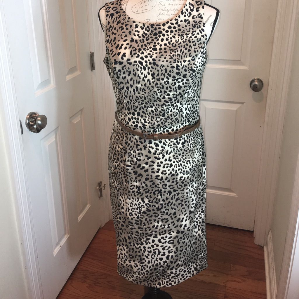Kasper Size 10 Animal Print Dress
