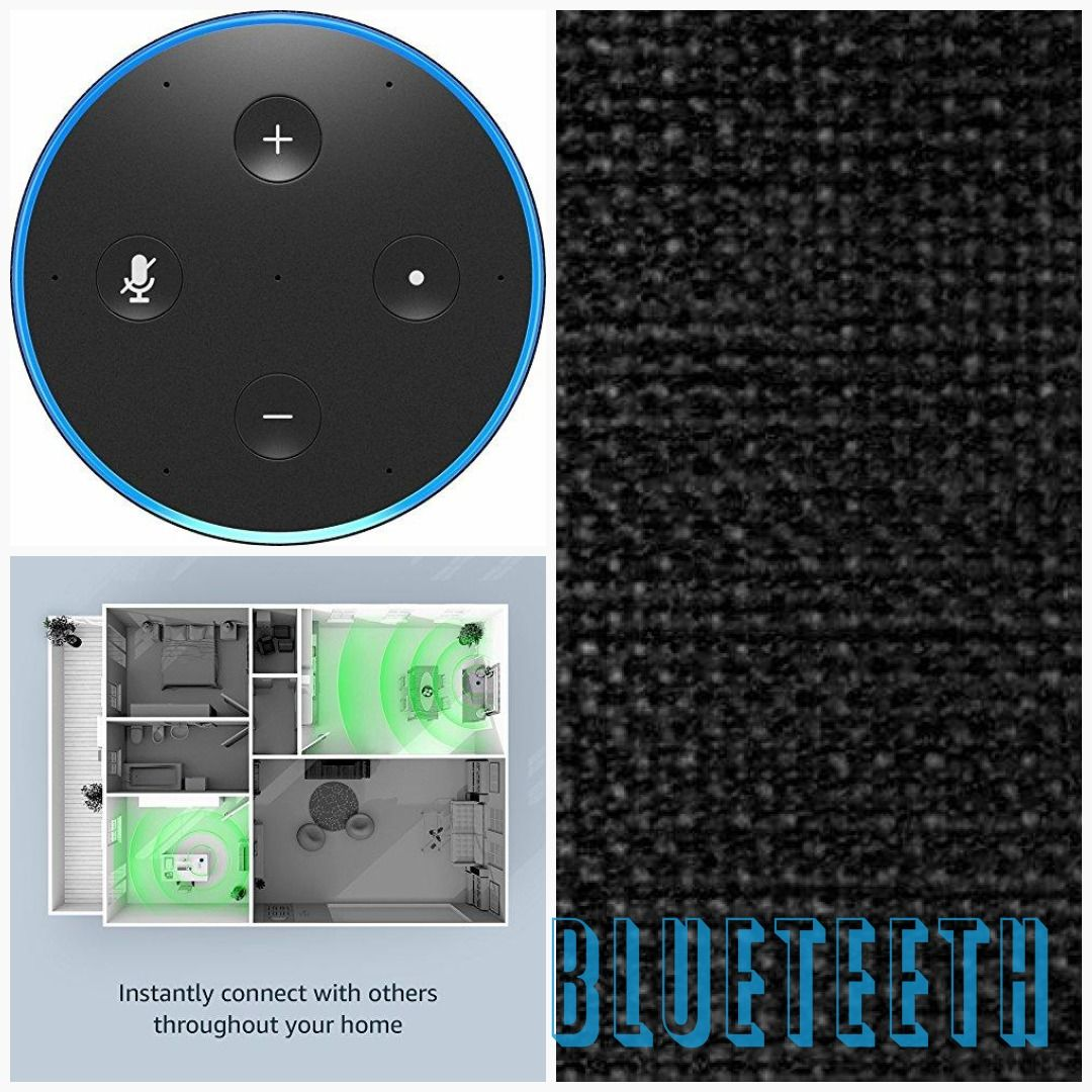 2nd Generation Charcoal Fabric Amazon Echo Smart Speaker