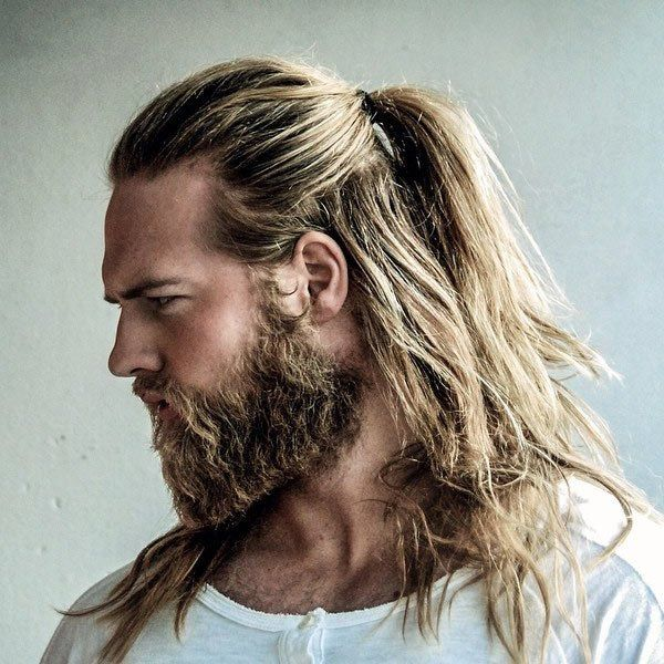 Stylish Guide To Long Hairstyles For Men Hair Styles Man Ponytail Long Hair Styles Men