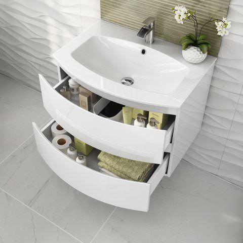 43++ White gloss bathroom cabinets best
