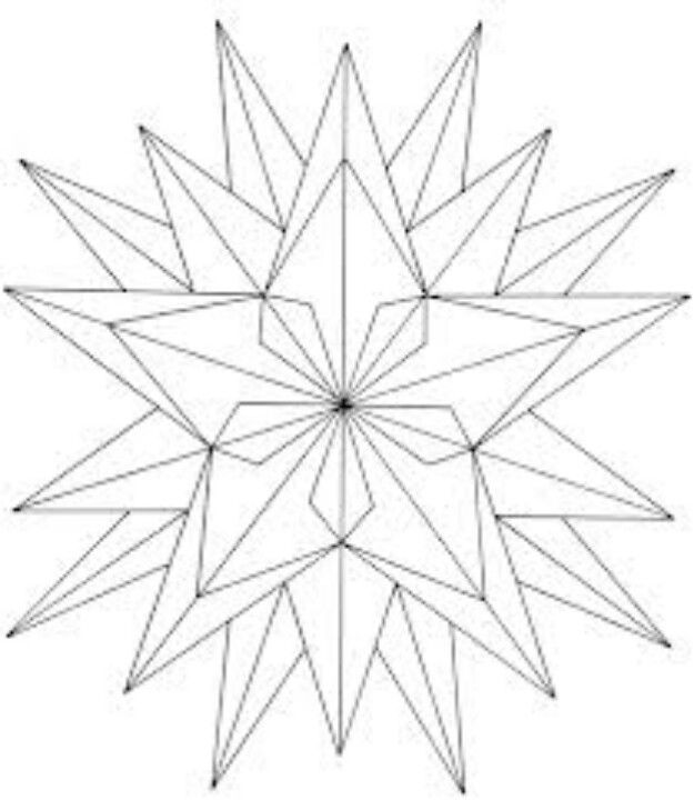 Nativity Star Star Coloring Pages Geometric Coloring Pages Geometric Drawing