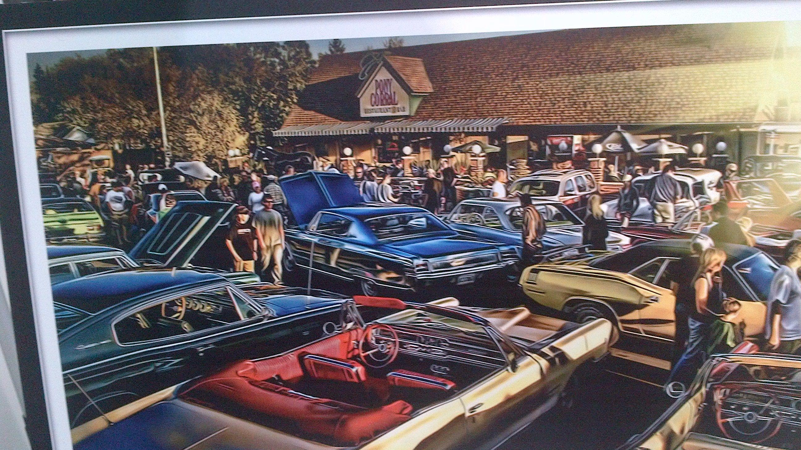 Pony Corral Auto Show Paining Winnipeg Manitoba Canada Vintage