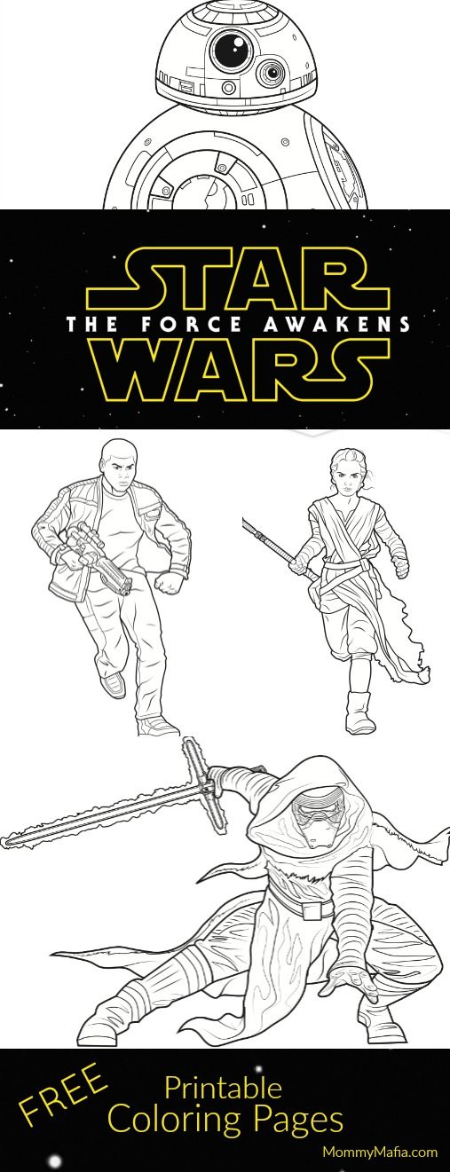 Free Star Wars Coloring pages MommyMafia