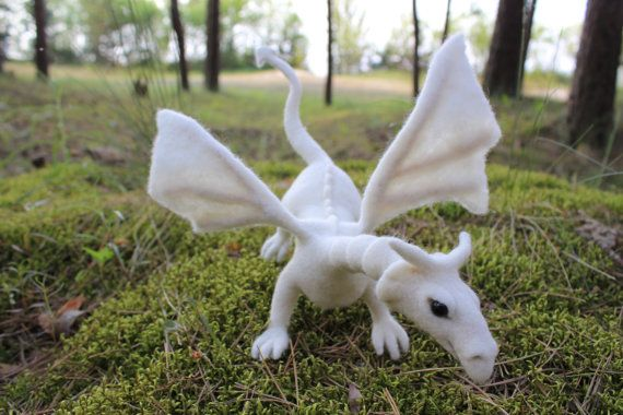 Hand Made Needle Felted FANTASY DRAGON custom order by AliceFelts