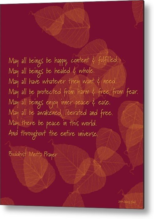 Beautiful thought for every day    Marcy Gold - Buddhist Metta