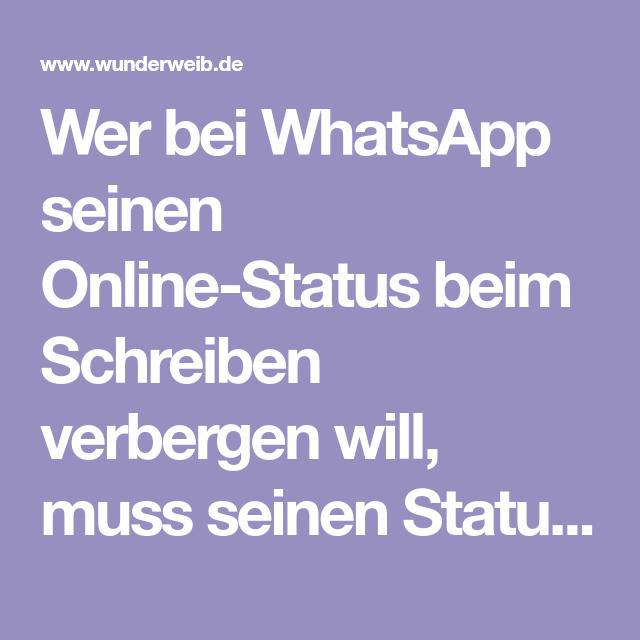 Whatsapp Trick Online Status Verbergen Beim Schreiben