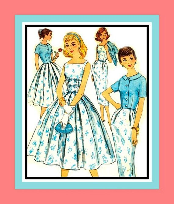 Vintage 1957 Posh Teen Style Dress by FarfallaDesignStudio on Etsy, $15.00