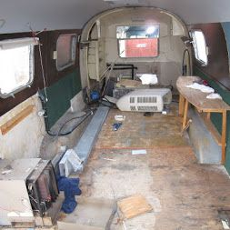 Before - The rear end of the Airstream