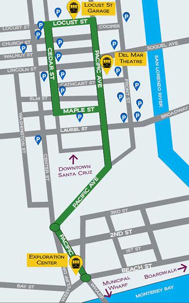 trolley map santa cruz Pinterest Santa cruz