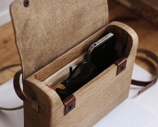 A Wooden Handbag D For Dot