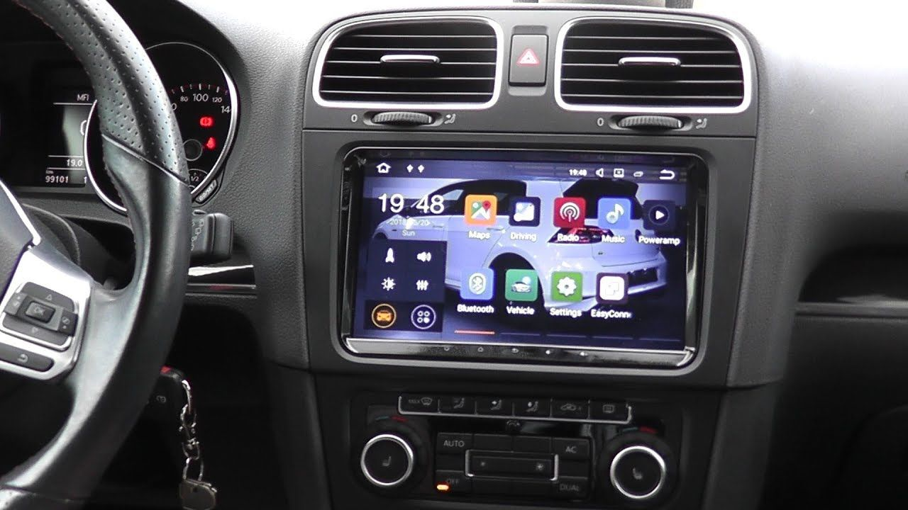 Seicane 9 Android Double Din Install S6920 Mk6 Gti Check Out