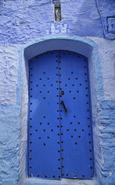 Chefchaouen Morocco Portes Bleues Porte Fenetre Et Nuances De Bleu