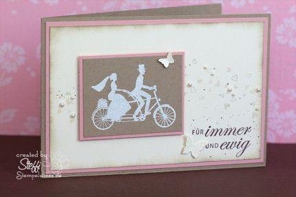 Hochzeitskarte - Wedding Wheels • Stempelwiese