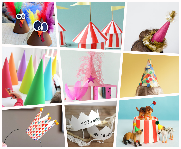 9 ideas para fiestas y cumples gorros sombreros y coronas - Fiestas Y Cumples