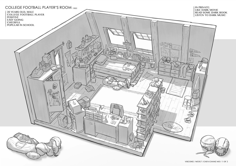 Feng Zhu Design : FZD 학기 2 학년 학생들의 방 디자인  우리집 참고 ...
