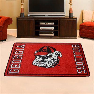 Georgia Bulldogs 46 X 64 Mascot Rug Red