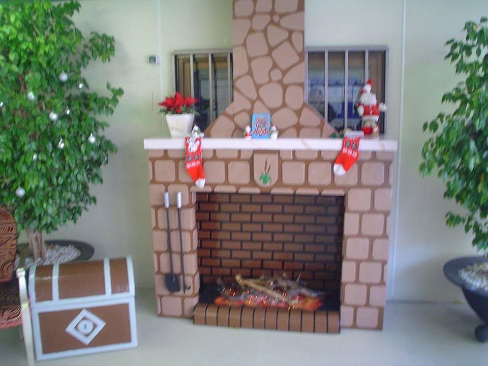 Baul arc n zapatero integramente construido con cart n - Chimeneas decoradas ...