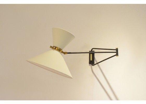 Franzosischer Mid Century Wandlampe Mit Gelenkarm Von Lunel 1950er Wandlampe Lampe Wand