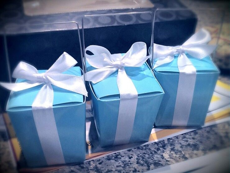 Tiffany and co. themed hens party.. bonbonnieres
