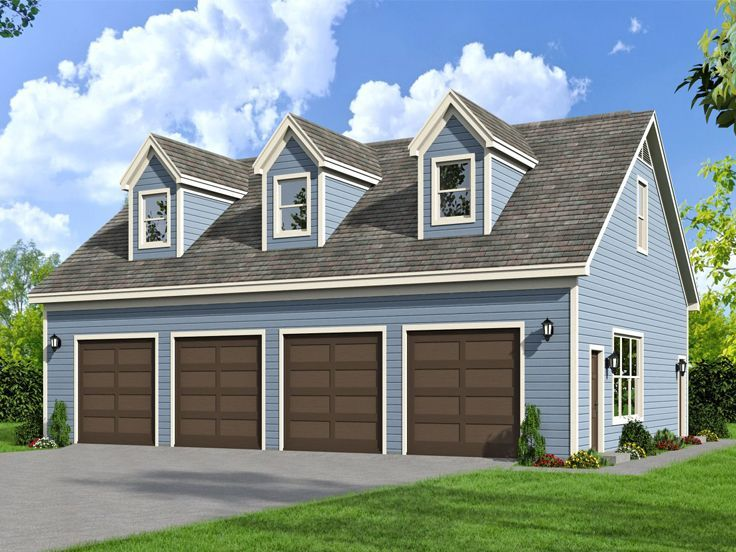 062g 0071 4 car garage with pool bath and cape cod for Cape cod garage doors
