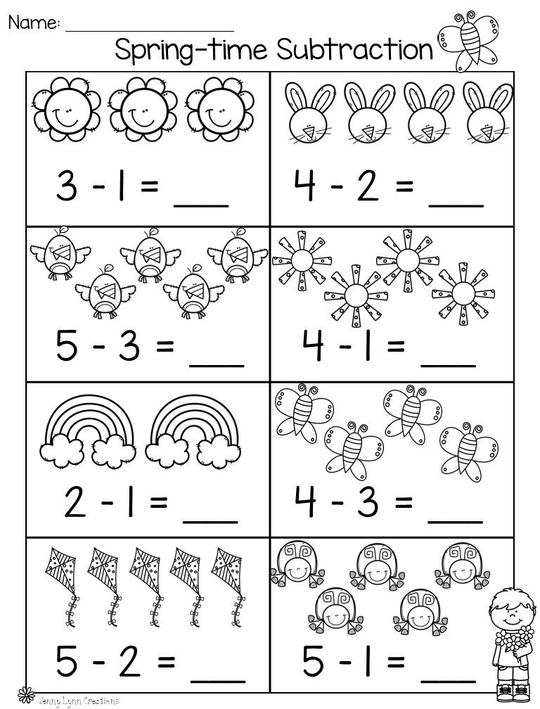 Spring Math Literacy Packet Kindergarten Math Free Kindergarten Math Worksheets Addition Kindergarten Math Worksheets Free Spring addition worksheets for