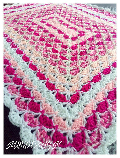 Any Size Rectangular Shell Blanket pattern | Crochet Afghans and ...