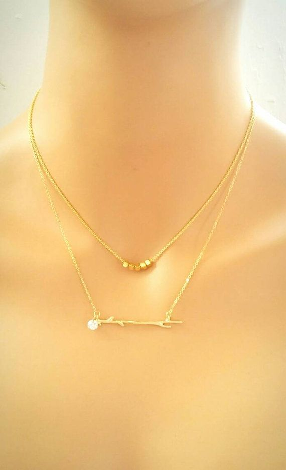 Check out this item in my Etsy shop https://www.etsy.com/listing/503886717/gold-branch-necklacecubic-zirconia