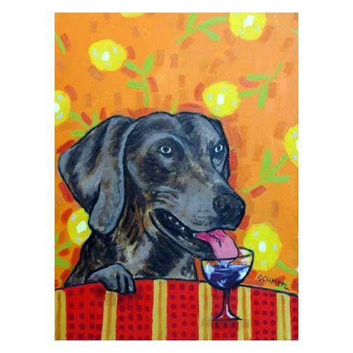 boston terrier wine bar ceramic dog art tile coaster gift