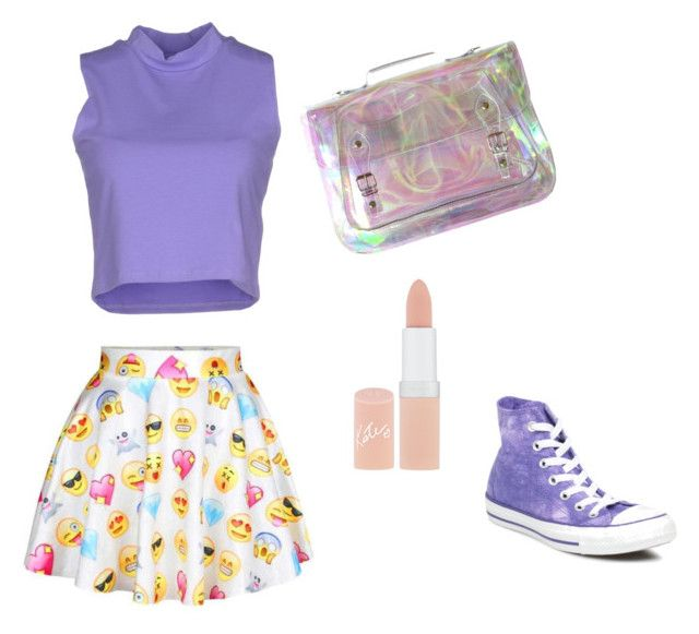"""ALIX'S OUTFIT"" by linagirl53 on Polyvore featuring Silvian Heach, Rimmel and Converse"