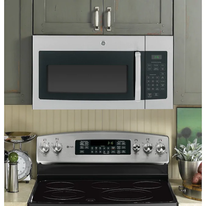 Ge 1 6 Cu Ft Over The Range Microwave Stainless Steel Lowes Com In 2020 Range Microwave Stainless Steel Microwave Kitchen Decor Modern