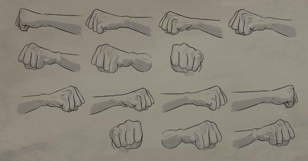 Fist Rotation Reference Sheet Drawing Fist Art Reference Photos Hand Reference