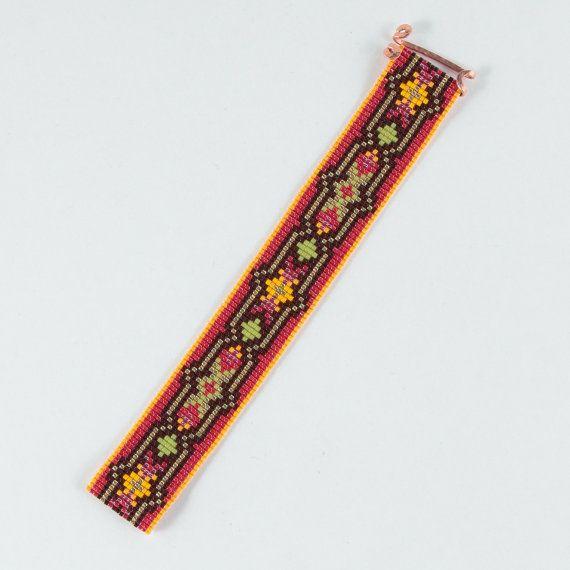 Flappers Paradise Bead Loom Bracelet Artisanal por PuebloAndCo ...
