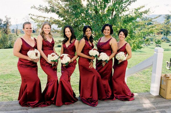 Red bridesmaid dresses - Abiti damigelle rossi